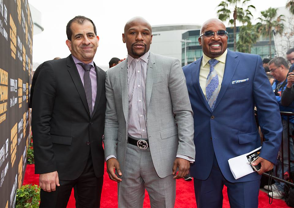 Floyd 'Money' Mayweather at the red carpet before the LA presser (Photo by Mikey Williams)