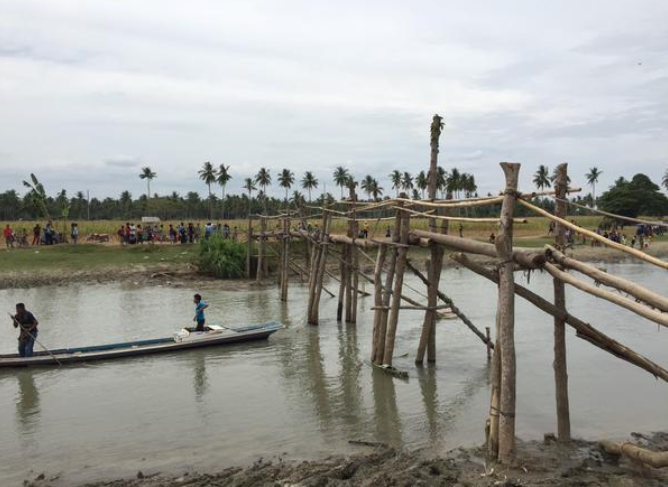 Tukalinapao Bridge in Mamasapano, Maguindanao (Photo courtesy of John Nery / Twitter)