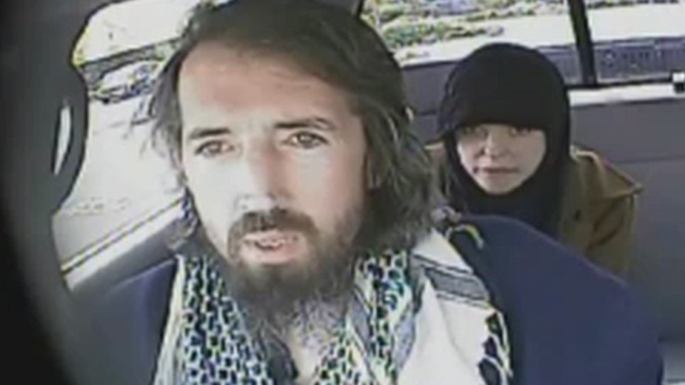 John Nuttall with Amanda Korody (screenshot from RCMP footage)