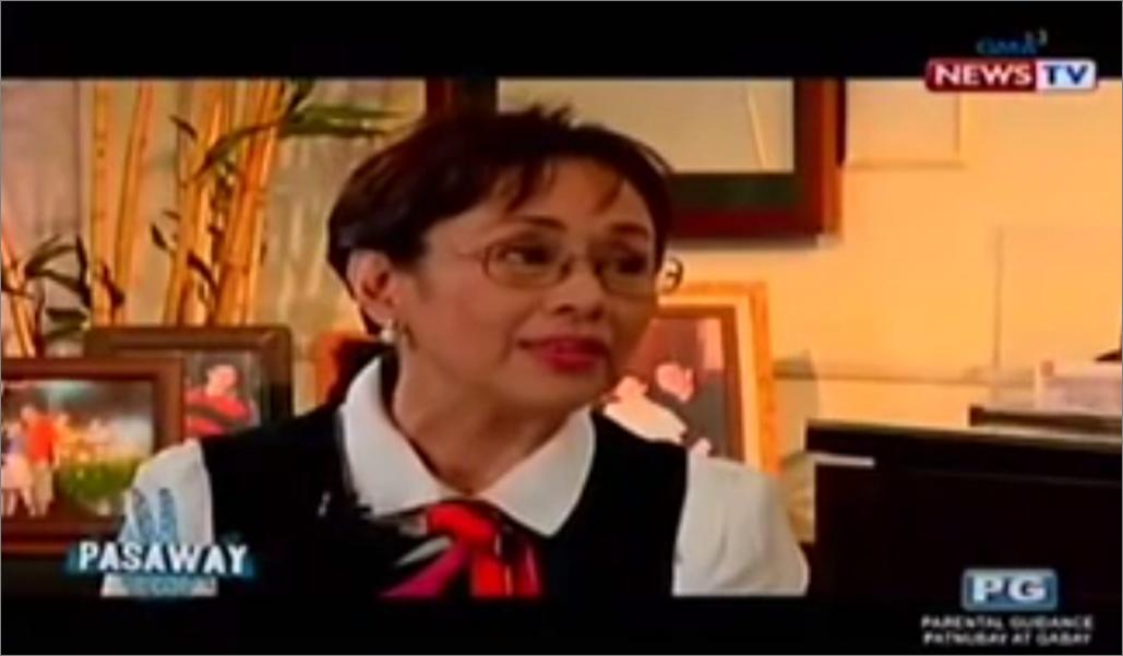 Vilma Santos. Screengrab from GMA News TV.