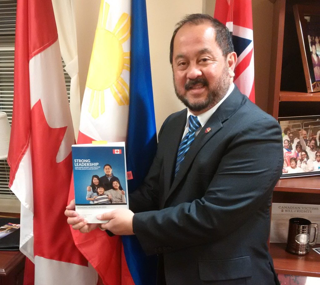 Senator Enverga with the  2015 Budget Document, April, 21, 2015