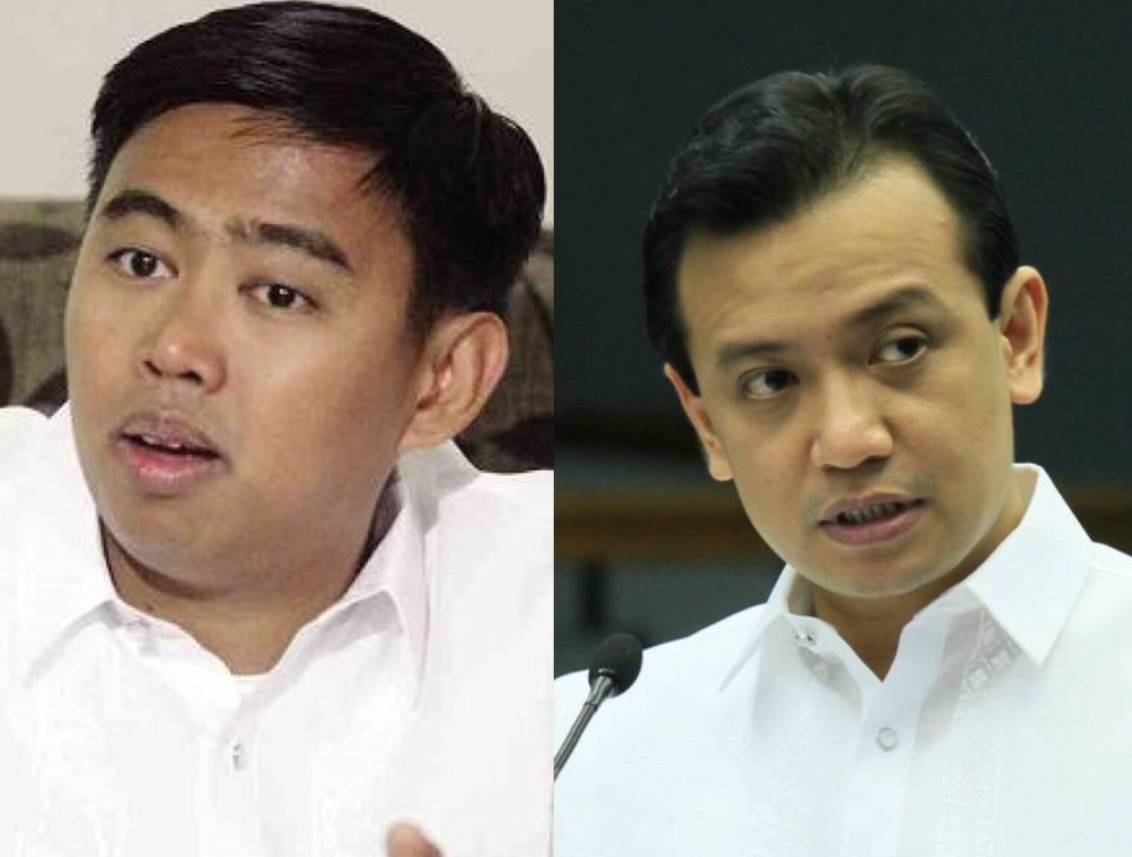 Makati Mayor JunJun Binay (left) and Senator Antonio Trillanes IV (right)