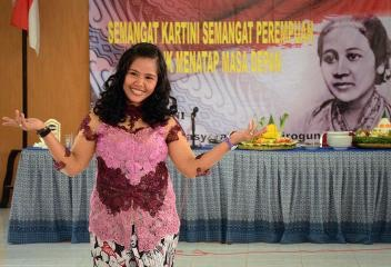 Filipino overseas worker Mary Jane Veloso at Indonesia's Kartini Day (Facebook photo)