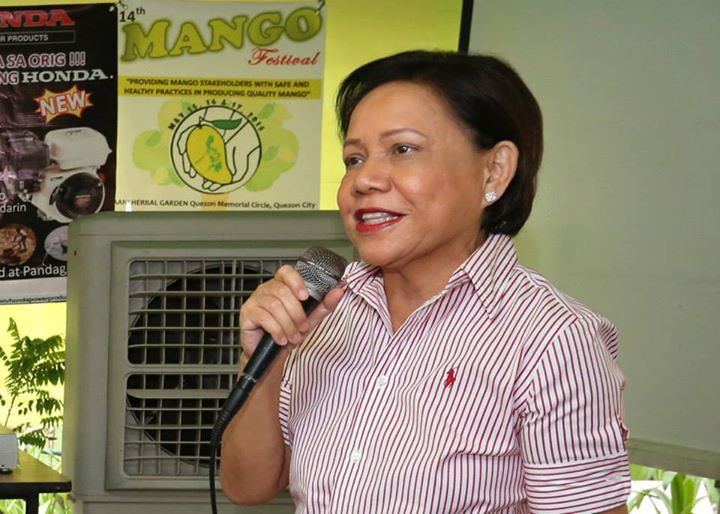 Senator Villar, chairperson of the Senate Committee on Agriculture & Food, visited over the weekend the 14th Mango Festival hosted by AANI Mango Industry Association (Photo courtesy of Villar's website)