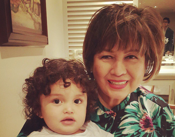 Annabelle Rama with 2-year-old grandson Zion Gutierrez (Photo from Annabelle's Instagram account)