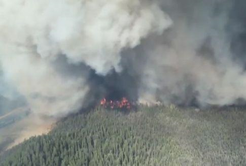 Wildfire displaces over 2,000 residents in Alberta (Screenshot from Global Edmonton footage)