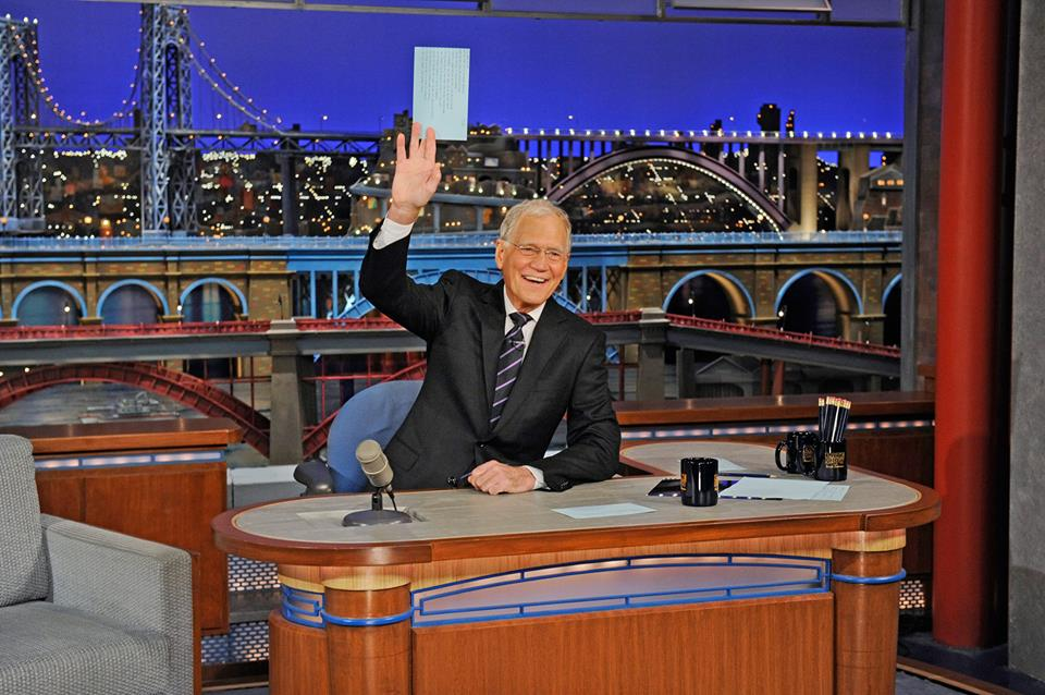 """Late Show with David Letterman"" says goodbye after 33 years (Facebook photo)"