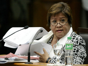 Department of Justice Secretary Leila de Lima (Chari Villegas / Senate Pool)