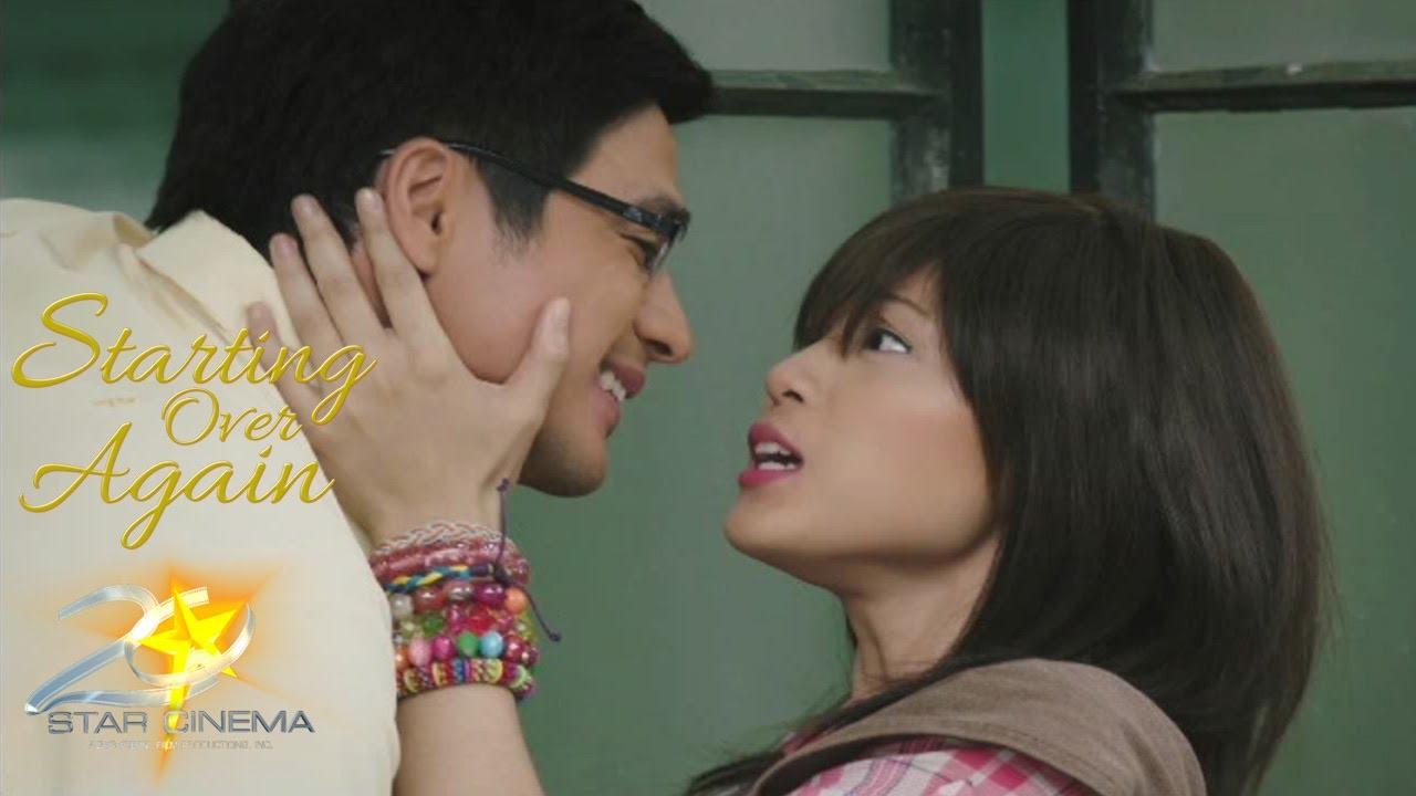 "Piolo Pascual and Toni Gonzaga as Marco and Ginny in Star Cinema's ""Starting Over Again.""  (Photo screenshot from the movie's trailer)"