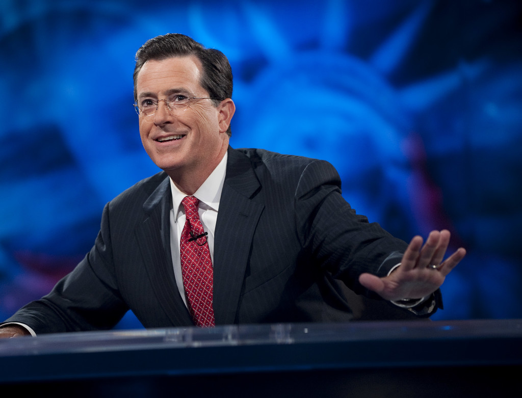 Host Stephen Colbert of Comedy Central's 'The Colbert Report' (Photo by Scott Gries / PictureGroup / Comedy Central)