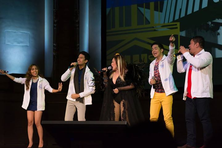 Kapuso stars (from left) Jonalyn Viray, Christian Bautista, Ai-Ai delas Alas, Alden Richards and Betong Sumaya in Kapusong Pinoy Vancouver concert (Photo courtesy of of Diones Lago and Aviva Teddy)
