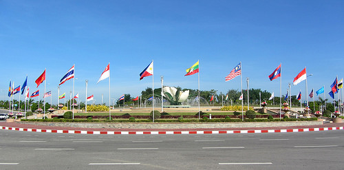 Flags of each country member of the Association of Southeast Asian Nations. (Photo from ASEAN's website)