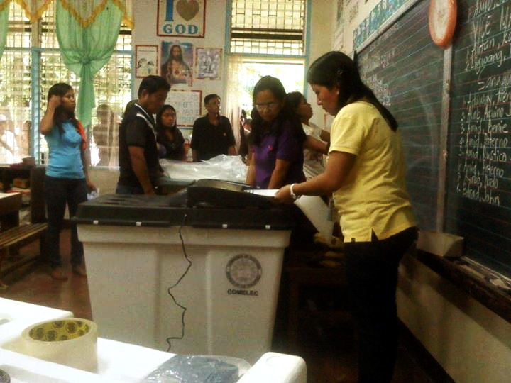 Precinct count optical scan (PCOS) machines used in elections (Photo from Comelec's official Facebook page)