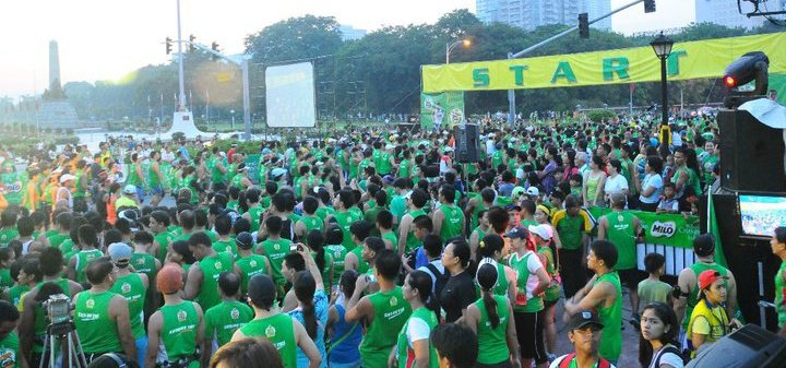 Runners preparing for the marathon to start (Photo from Milo's official Facebook page)