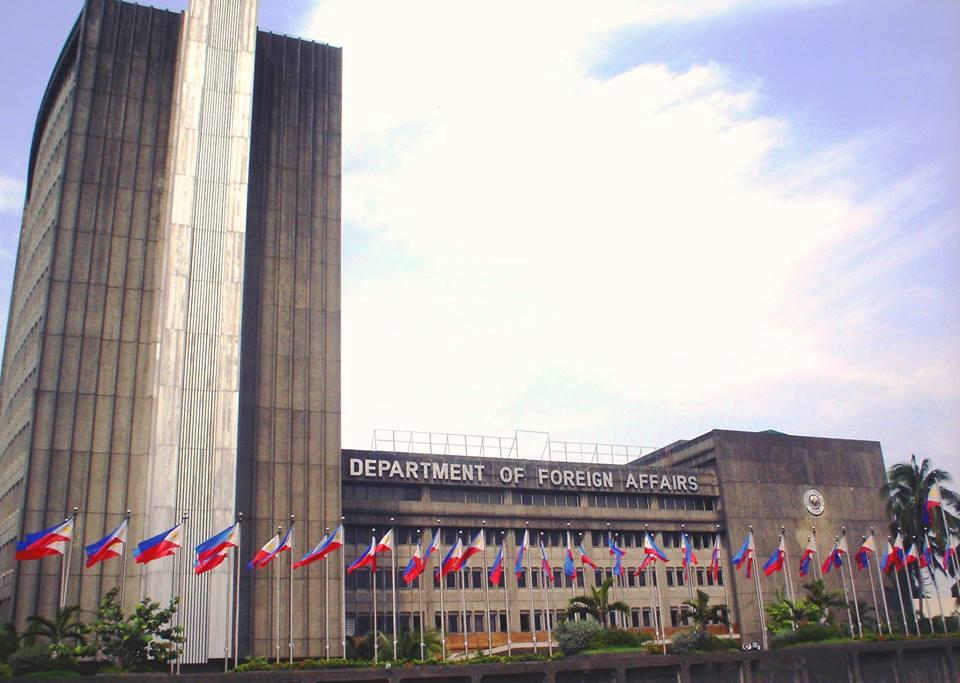 The Department of Foreign Affairs (DFA) facade (Facebook photo)