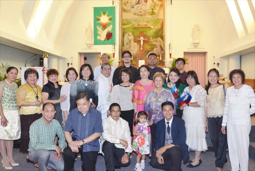 Amb. Garcia joins the Filipino community's independence day mass at the Assumption Church