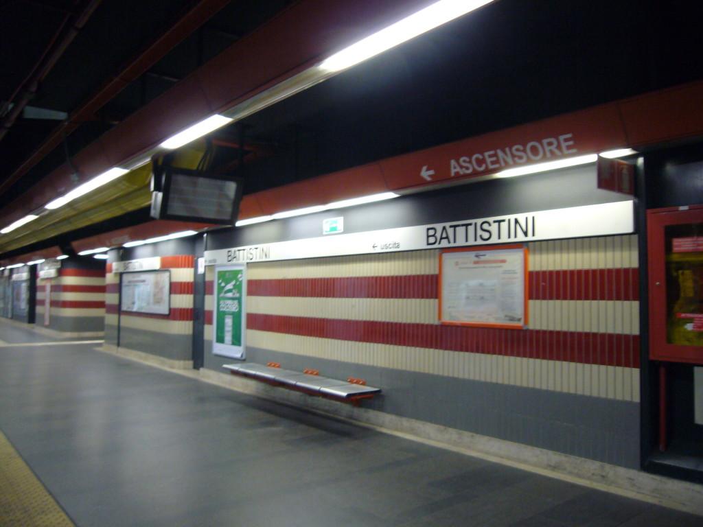 Battistini Metro Station, the train station Filipina worker Corazon Abordo was crossing to when she got hit-and-run. (Wikipedia photo)