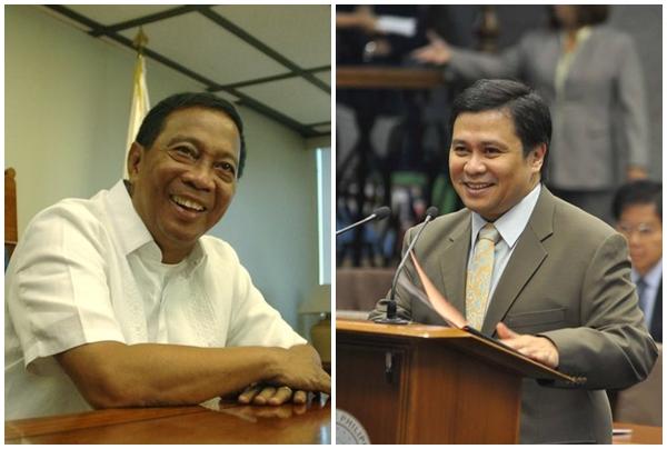 LR: Vice President Jejomar Binay, Senator Jinggoy Estrada (Facebook photos)