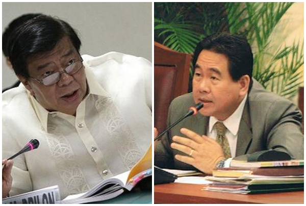 Senate President Franklin Drilon (left) and Cagayan de Oro Rep. Rufus Rodriguez (right) (Twitter and Facebook photos)