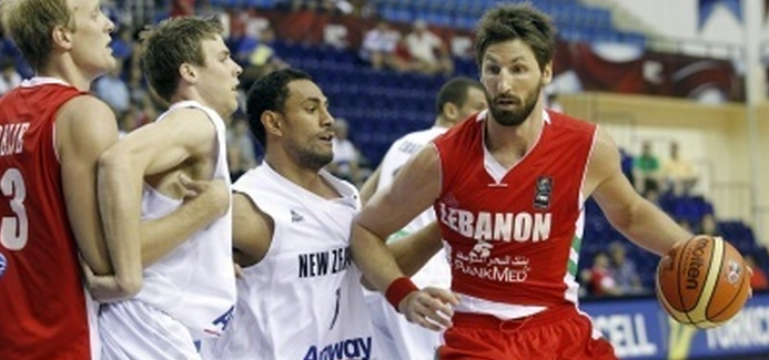Former Ginebra import and NBA player Jackson Vroman plays for the Lebanese national basketball team at the 2009 FIBA Championship (Photo courtesy of FIBA)