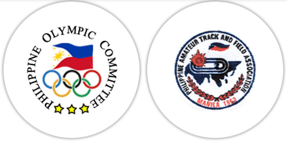 Philippine Olympic Committee (left) and Philippine Amateur Track and Field Association logos (Photo from Olympic.ph)