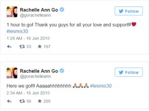 Rachelle Ann Go Tweet