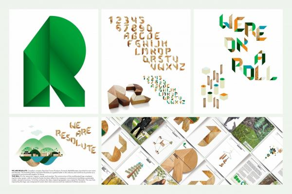 Resolute Forest Products 'Identity' (Photo: coloribus.com)