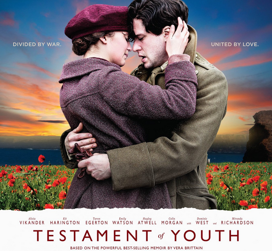 Testament of Youth movie poster (Photo from Harington's website)