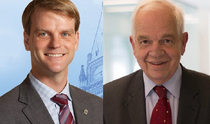 Chris Alexander (left) and John McCallum