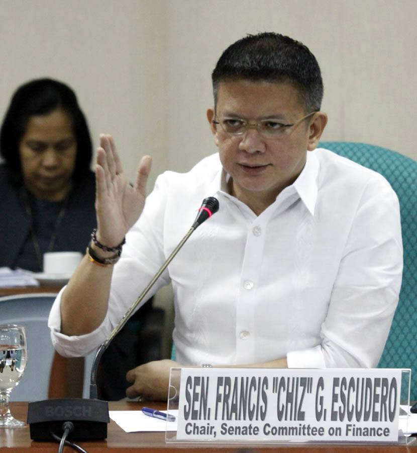 "Senator Francis ""Chiz"" Escudero (Photo from PRIB Senado/Romy Bugante)"