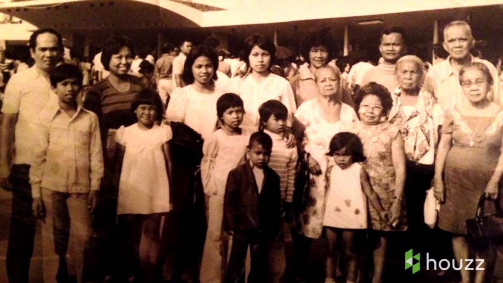 Vina's family (screenshot from Houzz video)
