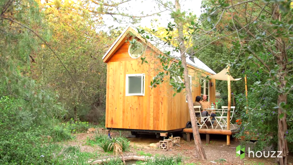 A Filipina designed a small, efficient, and sustainable home (screenshot from Houzz video)
