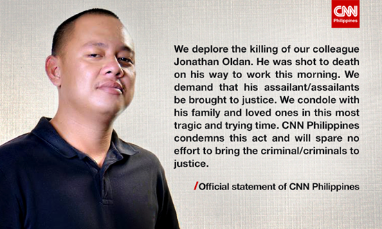 CNN Philippines statement on the killing of Jonathan Oldan