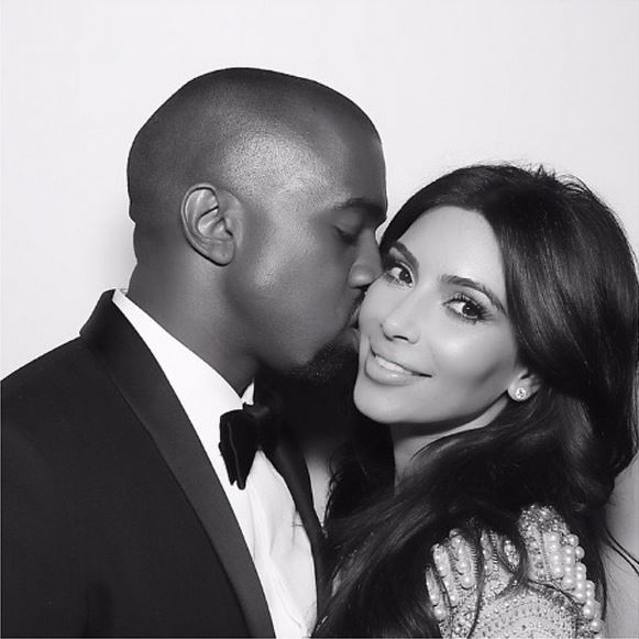 Celebrity couple Kim Kardashian-West and Kanye West are expecting their second child (Photo courtesy of Kim's Instagram account)