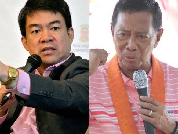 Sen. Aquilino 'Koko' Pimentel (left) and Vice President Jejomar 'Jojo' Binay (Facebook photos)