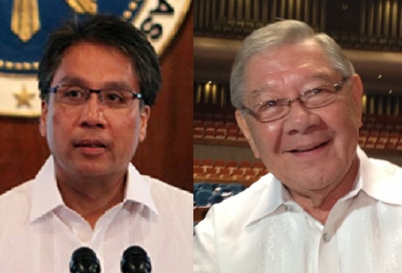 Interior Secretary Mar Roxas and Speaker Feliciano 'Sonny' Belmonte