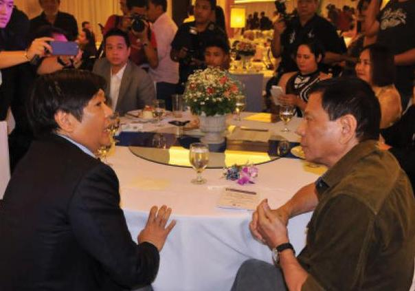 Sen. BongBong Marcos (left) and Davao City Mayor Rodrigo Duterte (PNA photo)