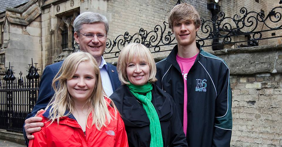 Canadian Prime Minister Stephen Harper with family (Facebook photo)