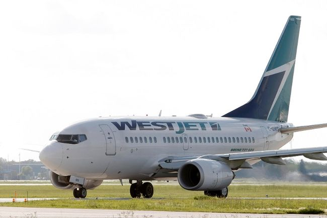 WestJet airplane (Facebook)