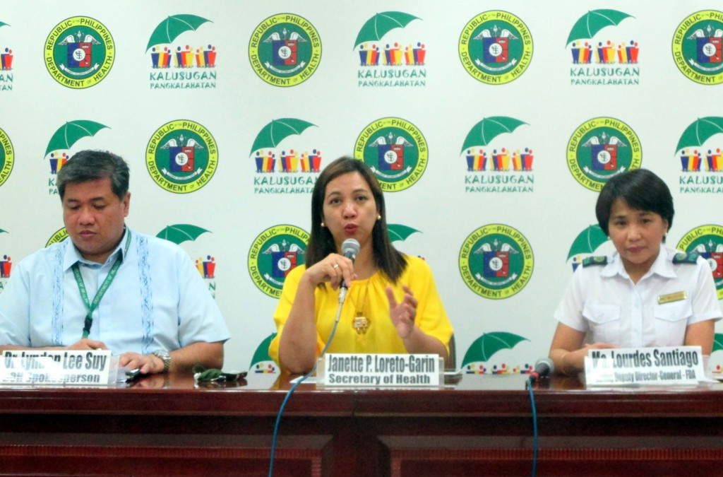 Department of Health press conference (PNA photo)