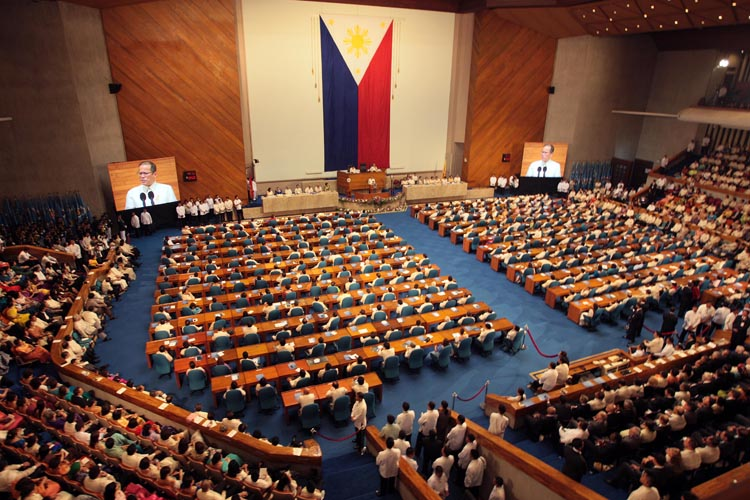 The Plenary Hall, House of Representatives Complex, Constitution Hills, Quezon City (Photo by Malacañang Photo Bureau/Robert Viñas)