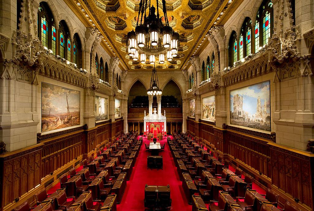 Canadian Senate Chambers (Saffron Blaze / Wikimedia Commons)