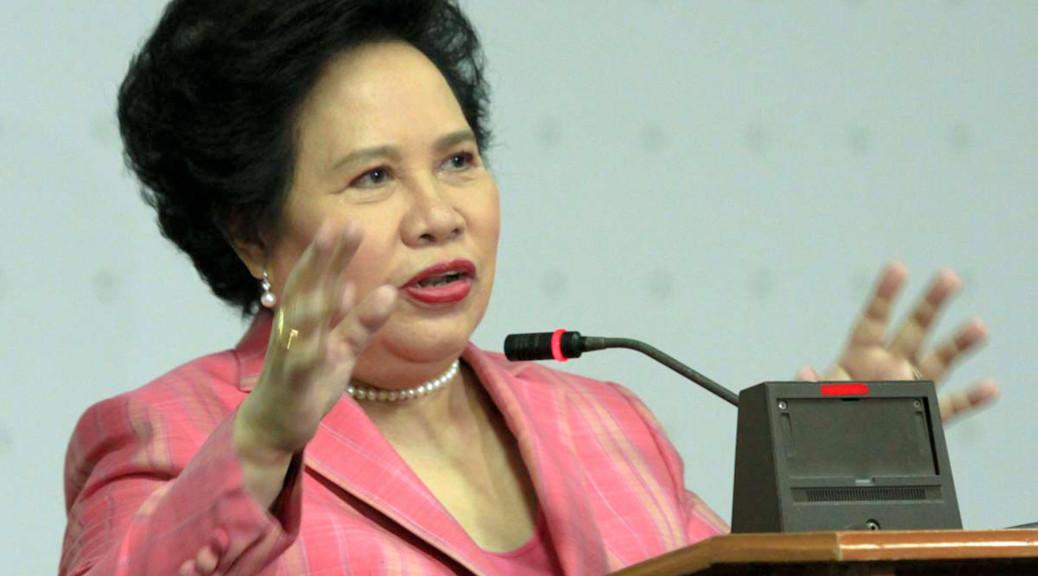 Senator Miriam Defensor-Santiago (Photo from Santiago's website)