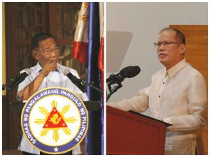Vice President Jojo Binay (left) and President Benigno Aquino III (Binay photo courtesy of Facebook; Aquino photo from Malacanang Photo Bureau)