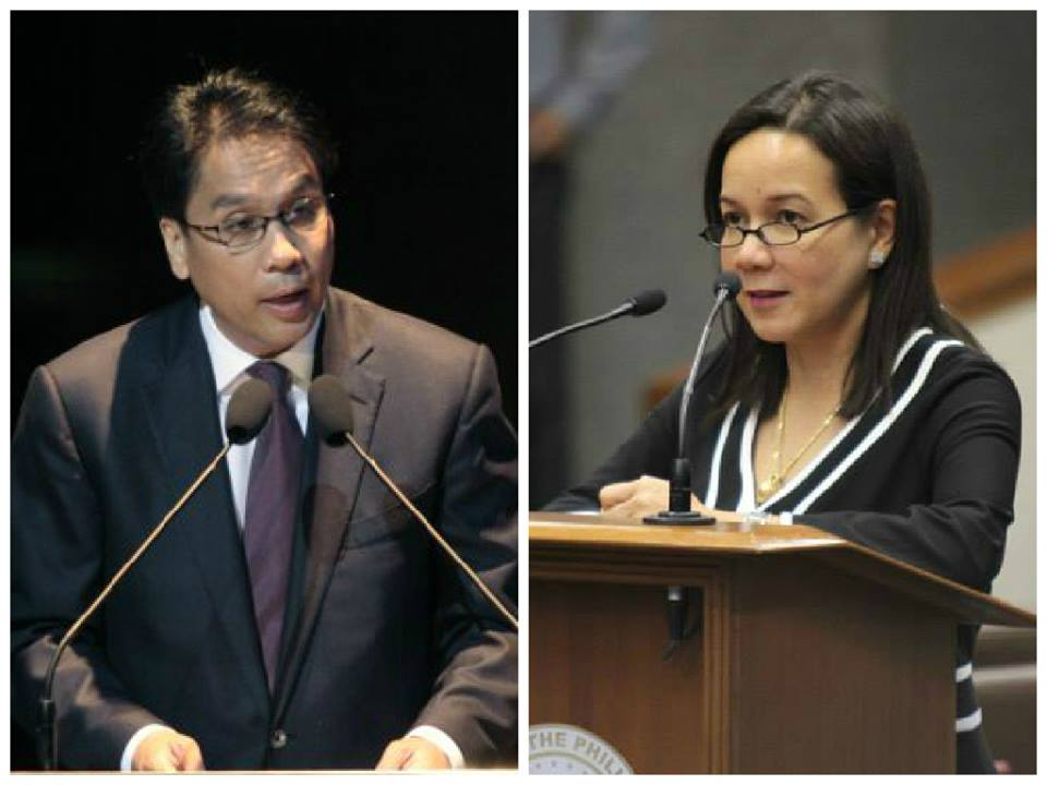 BETTER TOGETHER? The administration continues to hope Sen. Grace Poe will say yes to being LP bet Mar Roxas' running mate for 2016 (Facebook photos)