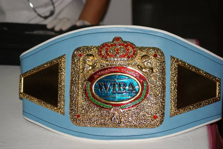 Filipina boxer Jujeath Nagaowa's WIBA world title belt, which was was given an estimated value of P20,147.77 and entailed a P3,027.13 customs duty and a P2,782 value added tax.  (Photo from Nagaowa's Facebook account)