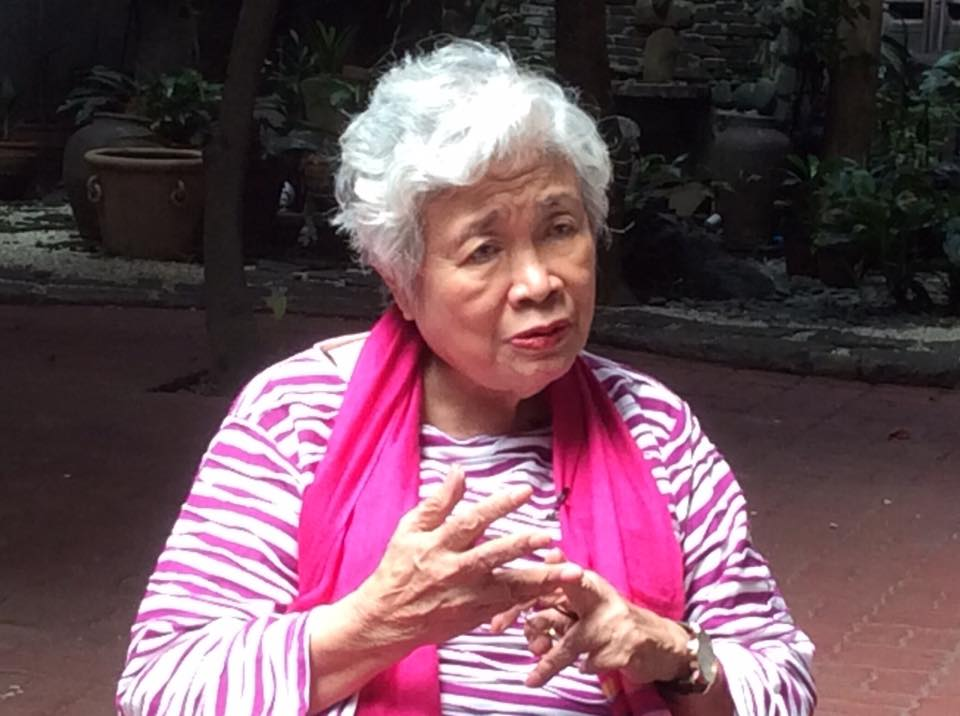 Watch Philippines lead convenor and former national treasurer Leonor Briones  (Photo from Briones' Facebook account)