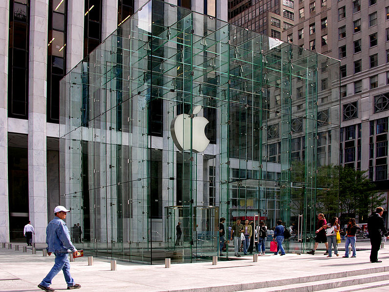 Apple Computer retail store on Fifth Avenue in New York City (Wikipedia photo)