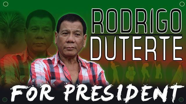 Duterte for President poster made by his supporters. (Photo from Duterte for President Movement)