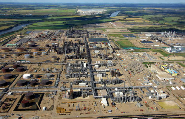 Alberta's Industrial Heartland, one of Canada's largest petrochemical processing regions (Photo from Industrialheartland.com)